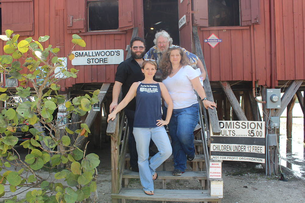 Mangrove Creators Joseph, David, Margaret and me on the front steps