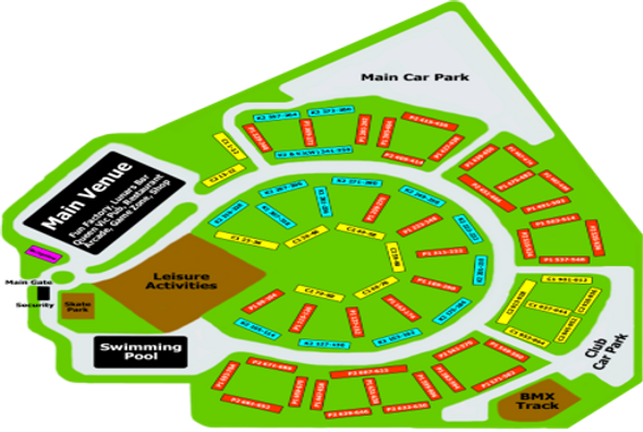 Site map for Southport Rumble Pontins