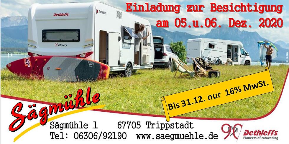 Besichtigungmöglichkeit für Wohnwagen der Fa. DETHLEFFS