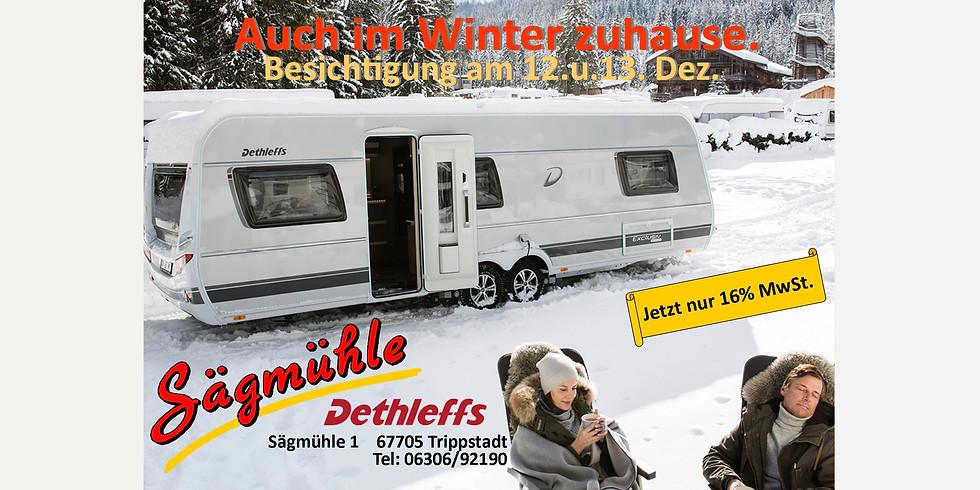 Auch im Winter zuhause - besichtigen Sie die neuen DETHLEFF Caravans