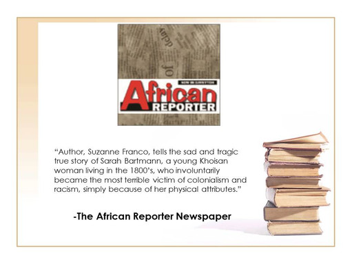 African Reporter Newspaper Reviews Exile Child by Suzanne Franco