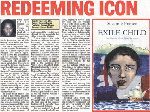 """""""Reading Exile Child will leave you angry at the past."""" - Sowetan Newspaper Review"""