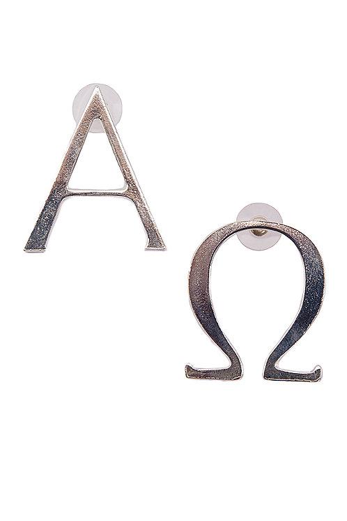 Logo Detail Silver Earring