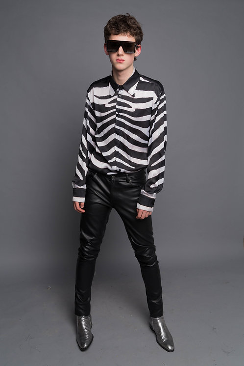 Faux Leather Slim Fit Trousers