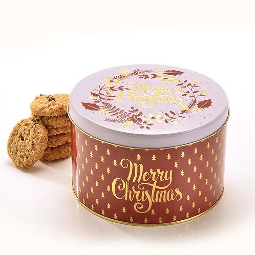 Merry Christmas Round Tin #649