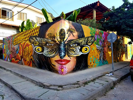 8 Artist Community Mural for the Bees By PVSA, Artists-Tony C, Quetzal, Misael Lopez, Alex Paramo, Emmanuel Montero,  O3L, Mada Diaz, Freddy Vejar