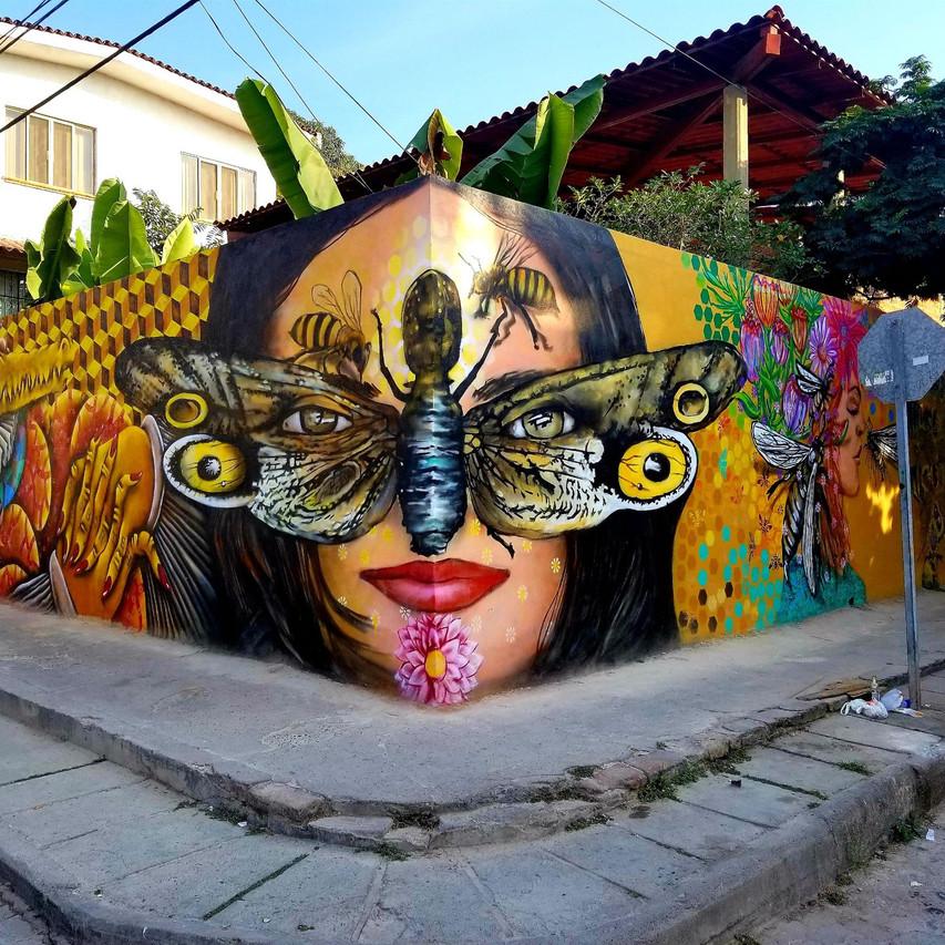 PV Street Art Colab Mural 7 artists Location 370 San Salvador