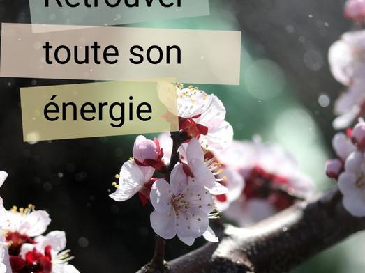 Trouver l'énergie en soi et tout autour de soi ...