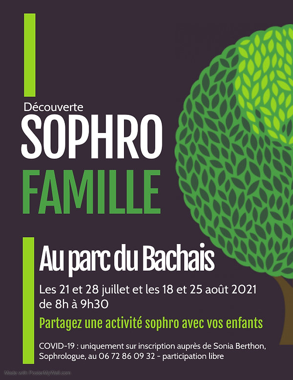 activité d'été - sophro famille - Parc du Bachais