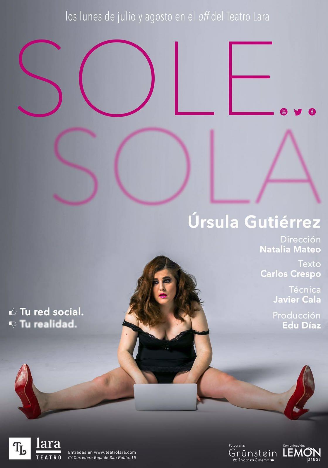 Ursula Gutierrez actriz CARTEL SOLE SOLA