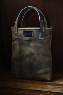 wilde moon leather tote