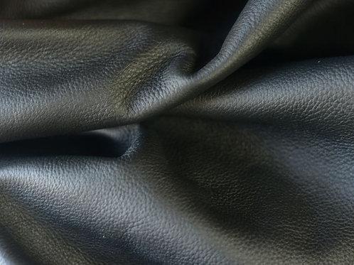 Black Pebbled Nappa 3-3.5oz folded leather