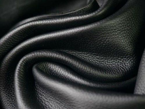Black Pebbled Zen 4-5oz pebbled folded leather