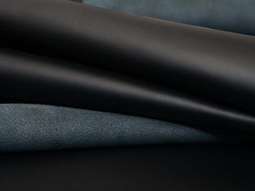 Jet-Black Halifax 4.5-5oz leather detail