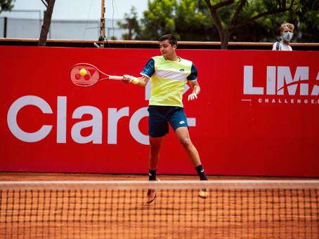 Un sólido Tomás Barrios alcanzó los cuartos de final del Challenger de Lima
