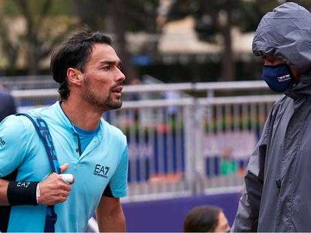Fabio Fognini es descalificado del ATP 500 de Barcelona tras insultar a un juez de línea