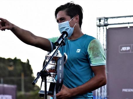 """Sebastián Báez, campeón del Challenger de Concepción: """"El próximo salto son los torneos ATP"""""""