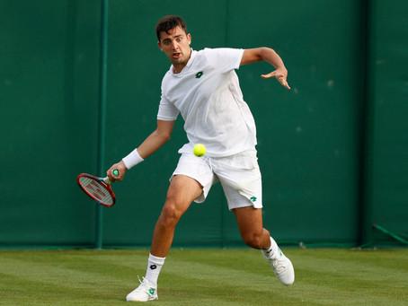 Haciendo un gran partido, Tomás Barrios cae en estrecho encuentro ante Kevin Anderson en Wimbledon