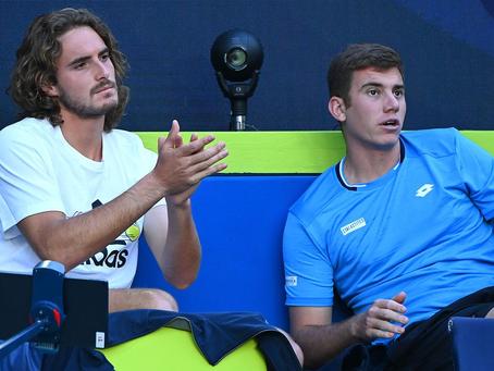 Tenista griego que jugó la ATP Cup da positivo por COVID-19 en Sudáfrica