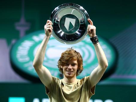 Mr. 500: Andrey Rublev consigue su cuarto torneo consecutivo en la categoría en Rotterdam