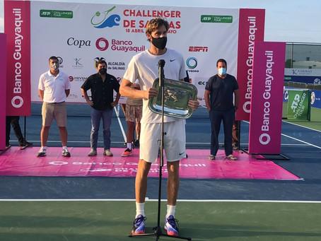 Sin ceder sets: Nicolás Jarry se consagró campeón en el Challenger de Salinas I