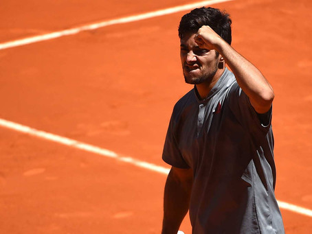 Garin supera el estreno en Roma al vencer en sets corridos a Lloyd Harris
