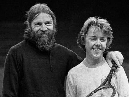 Lars Ulrich, de familia de tenistas, pero que cambió la raqueta por la batería