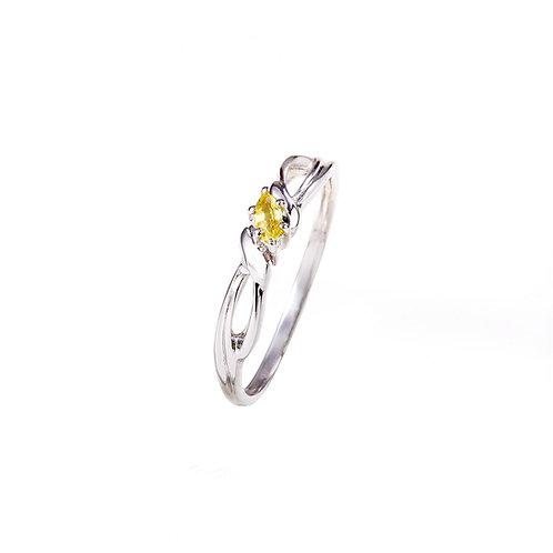 Daffodil Yellow Sapphire Ring