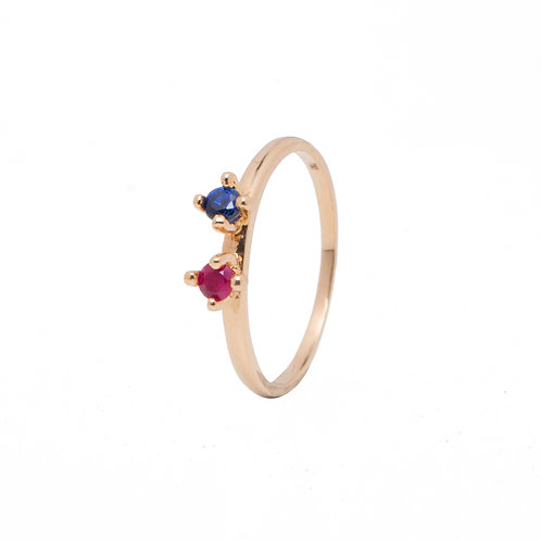Iceland Poppy Multi Gemstone Ring