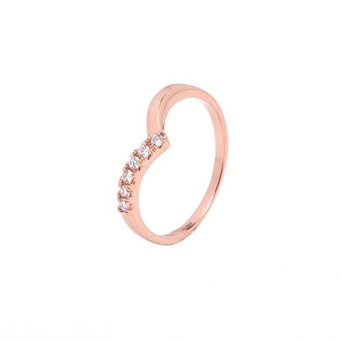 Jasmine V Diamond Ring