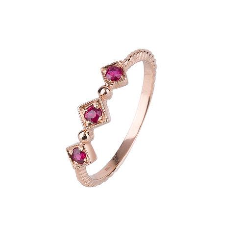 Princess Nebula Ruby Ring