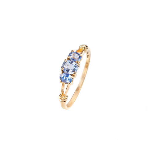 Blue Evening Promise Ring