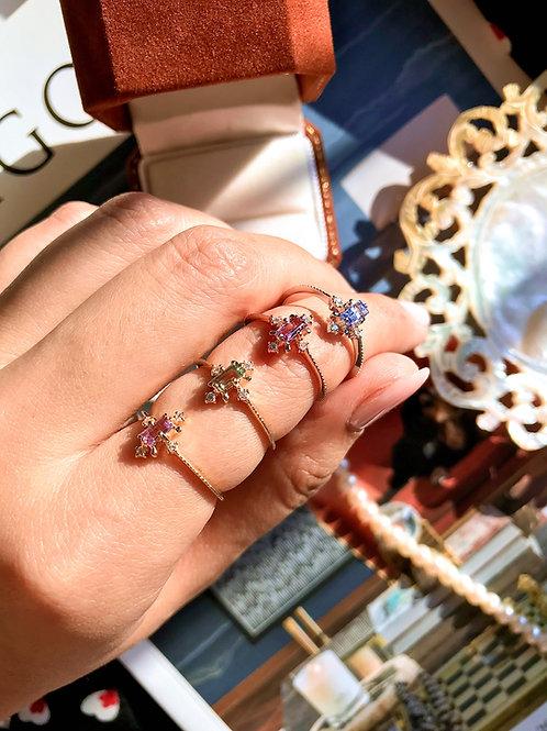 Fancy Baguette Vintage Diamond Ring