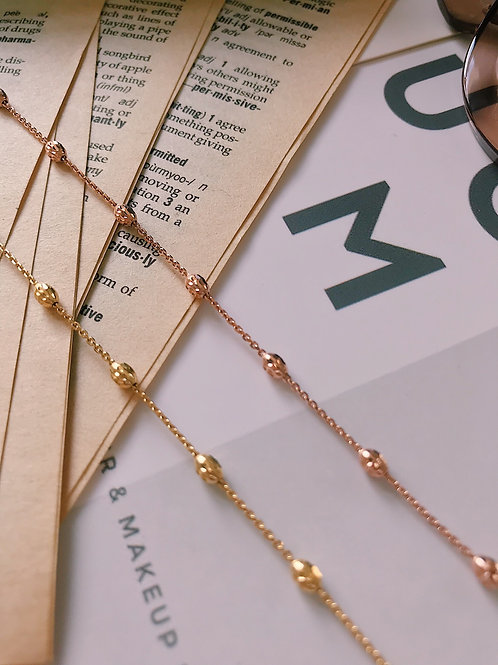 14K Gold Glam Chains Necklace