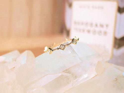 White Dahlia Diamond Ring