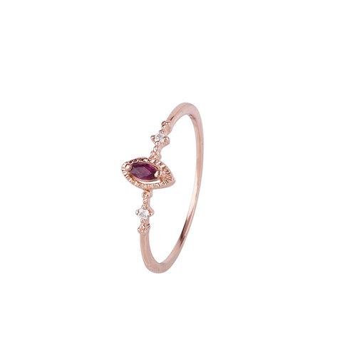 Mauve Haze Ruby Ring