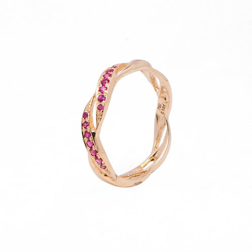Ribbon Of Love Ruby Ring
