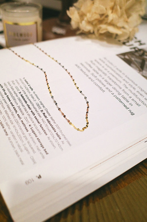 14K 3 Colours Gold Necklace