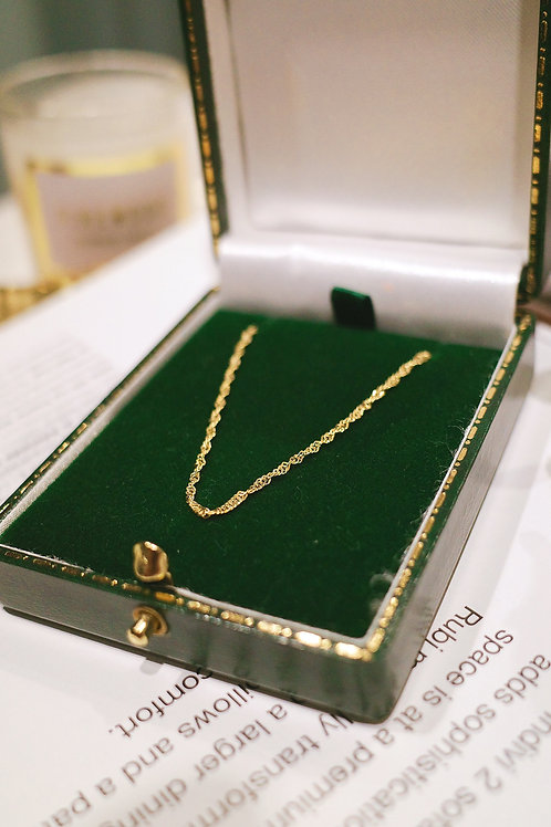 14K Yellow Gold Twist Necklace