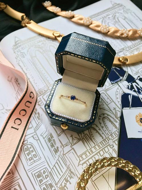 Midnight Purple with Yelllow Diamond ring