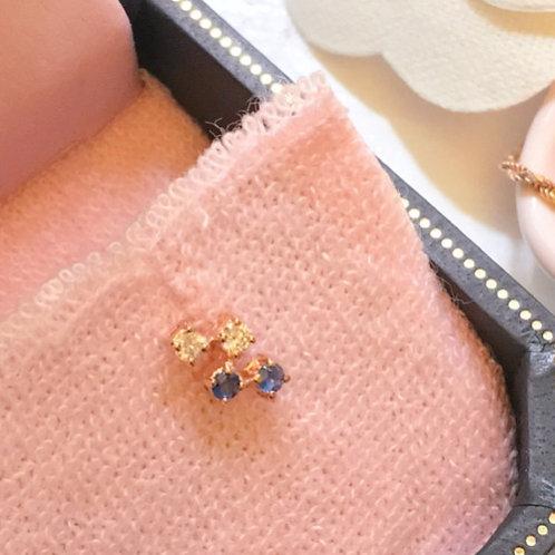Empire Blue Diamond Earrings