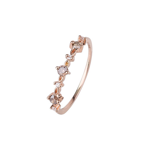 Midnight Passion Champagne Diamond Ring