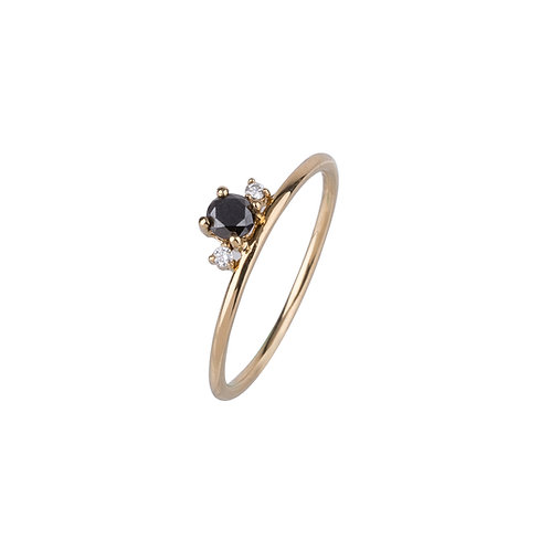 Just Star Black Diamond Ring