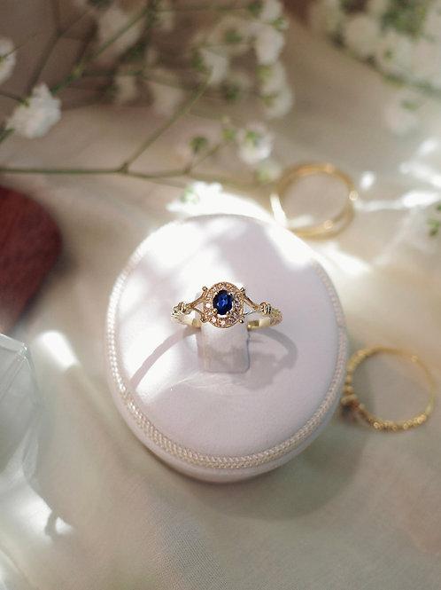 Wisteria Bush Blue Sapphire & Diamond Rings