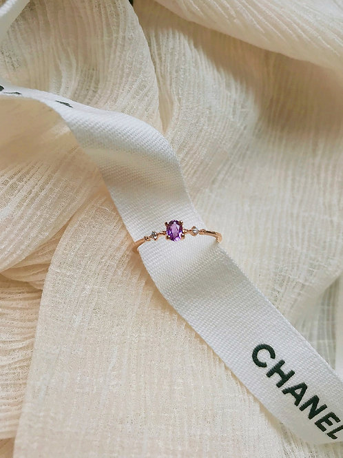 Purple Lilac Diamond Ring