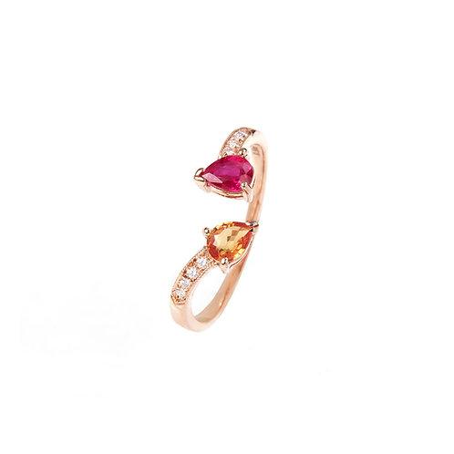 California Fuchsia Diamond Ring