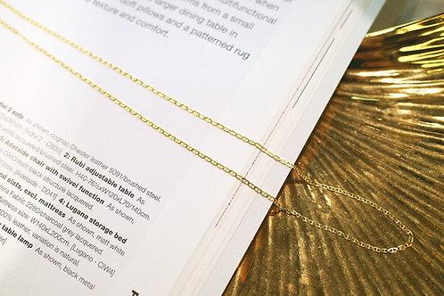 14K Yellow Gold Saddle Necklace