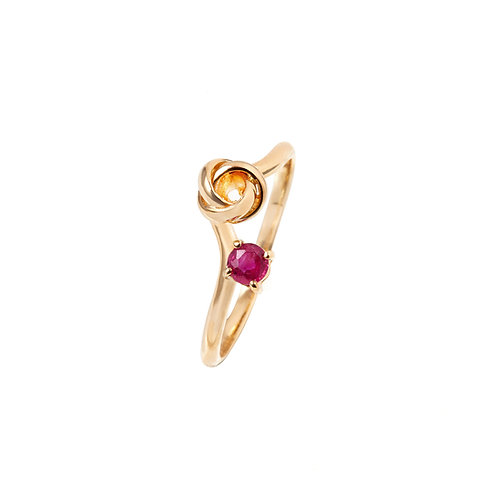 Camellia Ruby Ring
