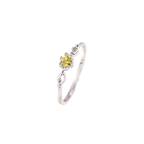 Little Leaf Sage Yellow Sapphire Ring