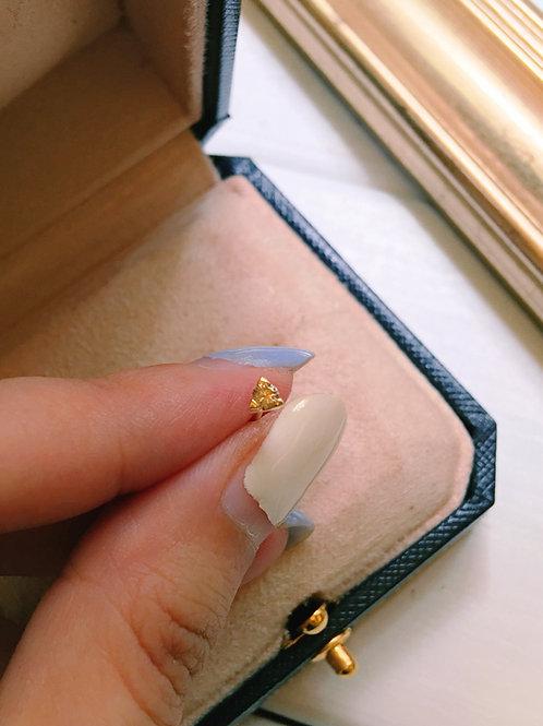 Antique Brass Champagne Diamond Earrings